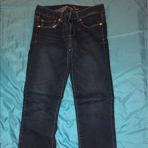 size 8 american eagle super stretch skinny jeans